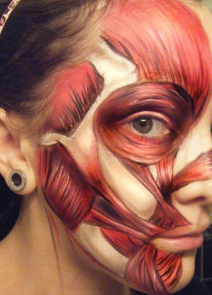 """Beneath the Flesh."" Great Halloween make up idea."