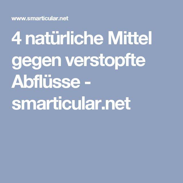 4 natürliche Mittel gegen verstopfte Abflüsse - smarticular.net