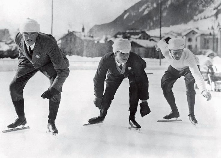 What Skaters, Ski Jumpers, and Curlers Looked Like at the First Winter Olympics in 1924. From slate.com.