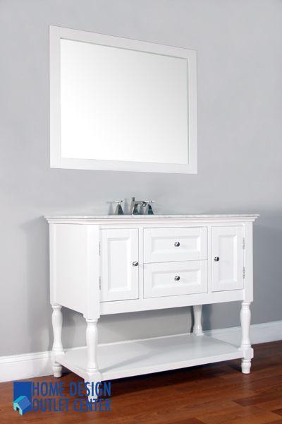 La 209 42 42 White Single Bathroom Vanity White Marble Home