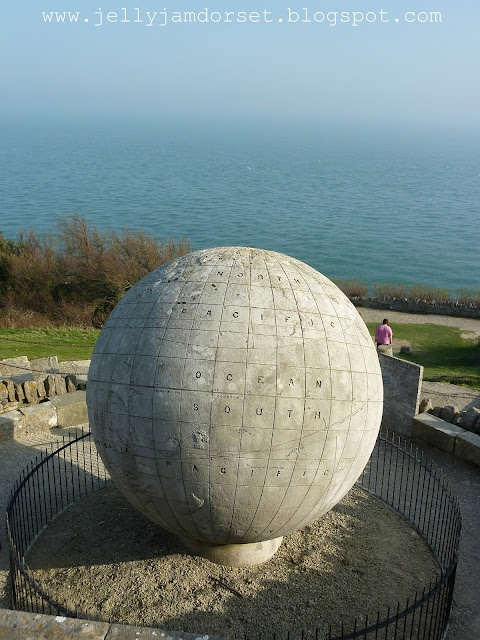 Durlston Country Park, Swanage, Dorset. I spent three Summers learning English in Swanage, and this park, with its globe makes up one of my fondest memories.