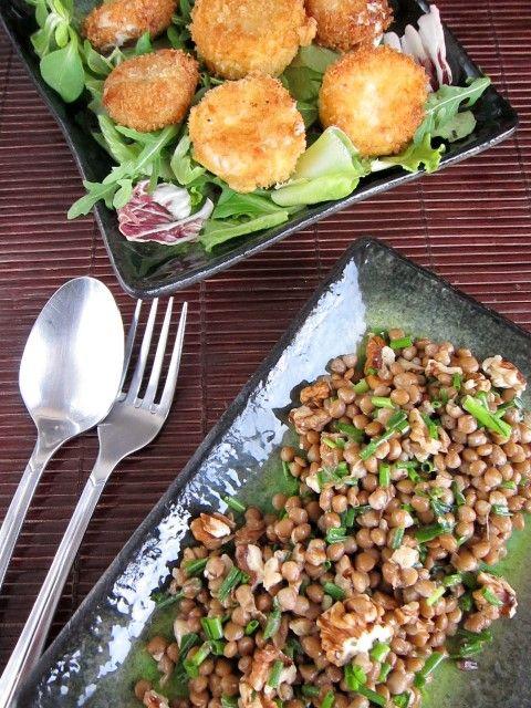 food4fun - Nigella, šošovica, kozí syr a panko