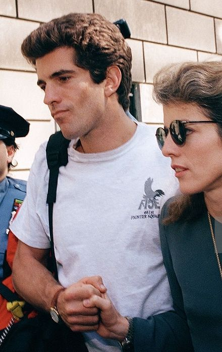 John Kennedy Jr. and sister Caroline Kennedy Schlossberg, following the death of their mother in 1994.