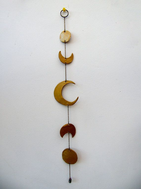 Lune murale céramique Phase lunaire lune par MadeInTheForest