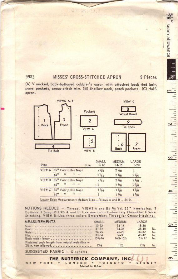 1960s Butterick 9982 UNCUT Vintage Sewing от midvalecottage