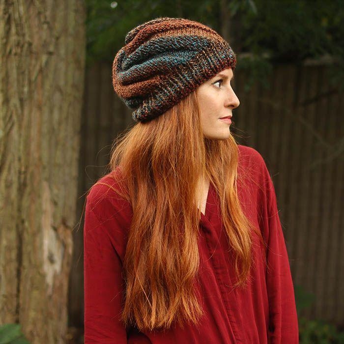 Flat Knit Hat Beginner Knitting Pattern By Gina Michele Swirl Hat Knitted Hats Knitting