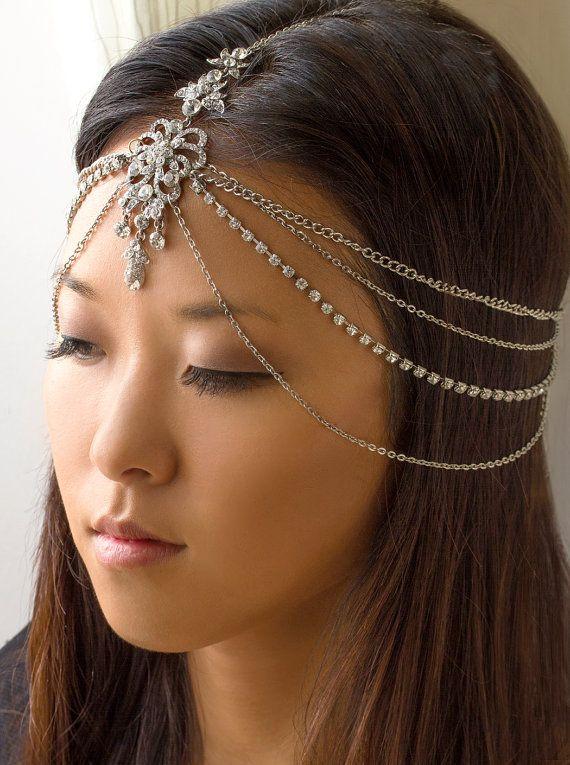 Goddess Freya Headpiece Boho Bride bridal hair wedding by AOStyles, $78.00