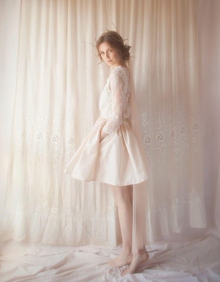 Robe de mariee courte et coloree Violette Tannenbaum printemps ete 2015