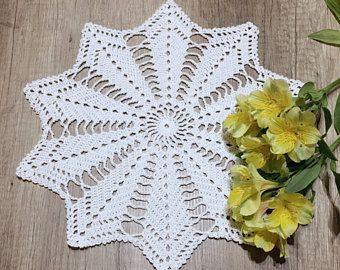 crochet white doily, crochet doily, crochet simply doily, crochet easy doily, crochet beautiful doily