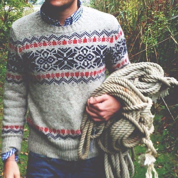 43 best Men's Fair Isle Sweaters Style images on Pinterest   Man ...