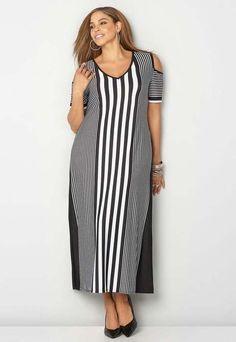 83484c5b7ee Длинные платья и сарафаны в стиле бохо-шик для полных модниц американского  бренда Avenue