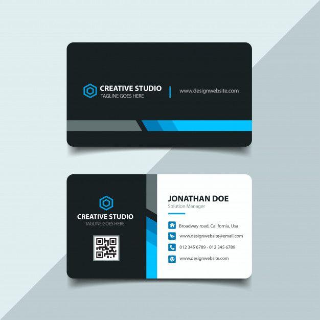Corporate Business Card Premium Vector Premium Vector Freepik Vector Business C Printing Business Cards Free Business Card Templates Doctor Business Cards