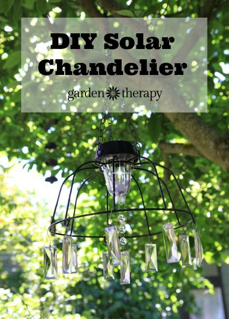DIY Solar Light Chandelier - an easy ouutdoor project in just 15 minutes!