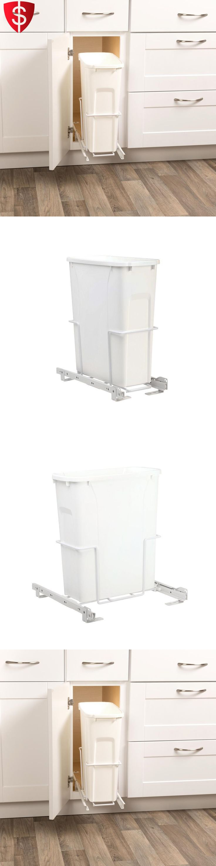 Trash Cans And Wastebaskets 20608: Kitchen Cabinet Trash Can Slide Pull Out  Waste Container Kit