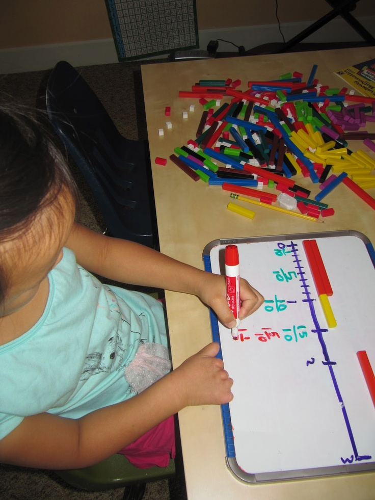 Teach Roots, Squares, Cubes & Fractions with Cuisenaire Rods