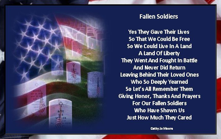 memorial day a poem by wallace bruce