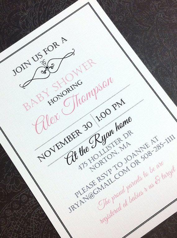 Handmade baby shower invitations on Etsy, $20.00