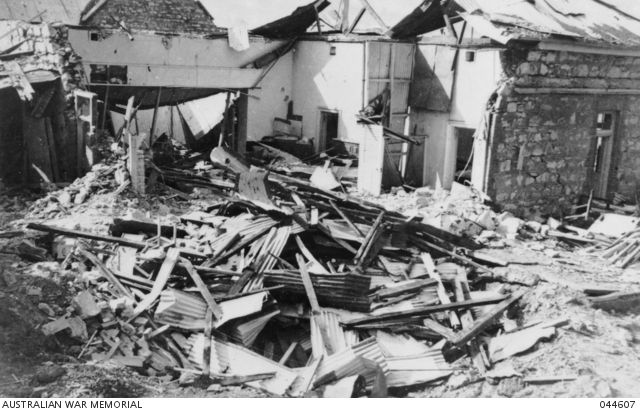 DARWIN, 1942-02-19. THE RUINS OF THE POST OFFICE AFTER THE FIRST JAPANESE RAID…
