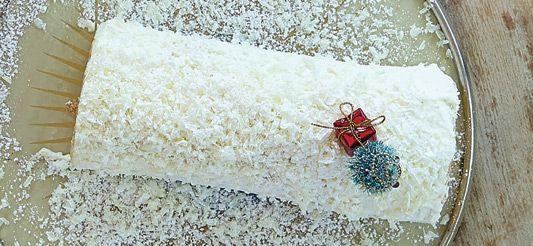 Delhaize - Sneeuwwitte kerststronk