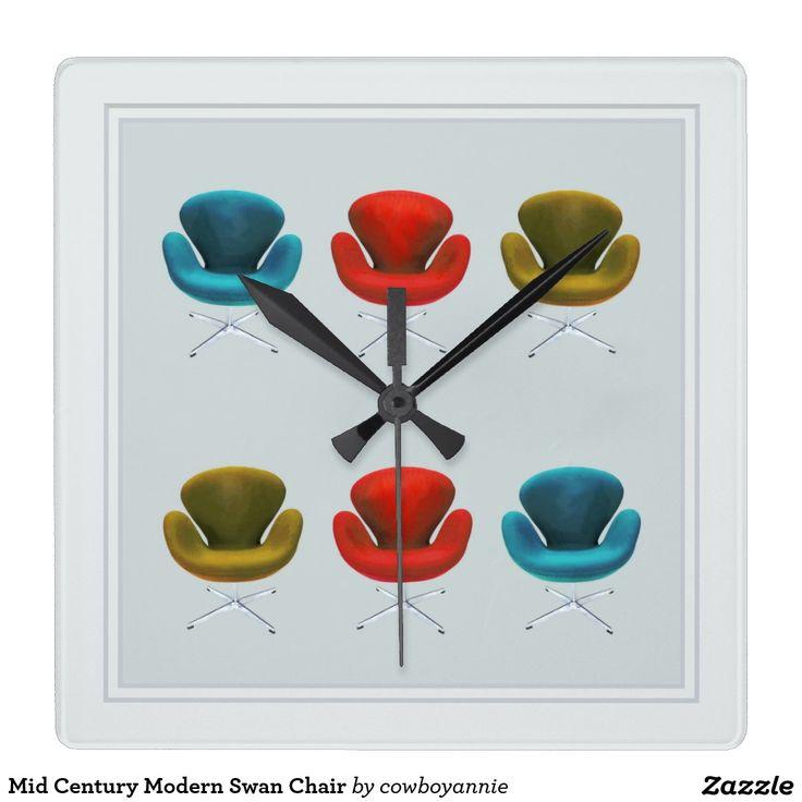 Mid Century Modern Swan Chair Clocks