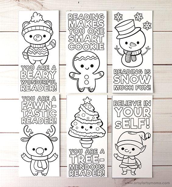 Free Printable Christmas Bookmarks Christmas Bookmarks Coloring Bookmarks Free Christmas Coloring Printables Free