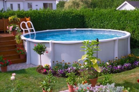 17 Ways to PrettyUp an AboveGround Pool Swimming pools