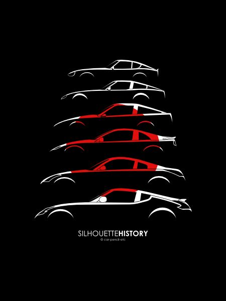 Nissan Z SilhouetteHistory by me Love the #GTR or anything #JDM? We do too! Check us out at www.Rvinyl.com!