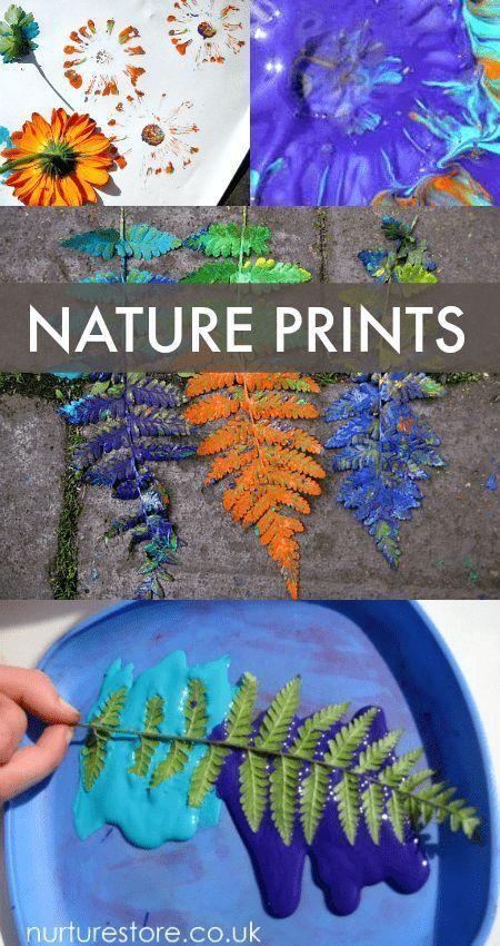 Flower printing garden art
