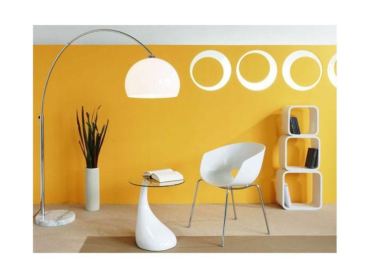 Lampa Podłogowa Big Bow II biała — Lampy podłogowe Invicta Interior — sfmeble.pl