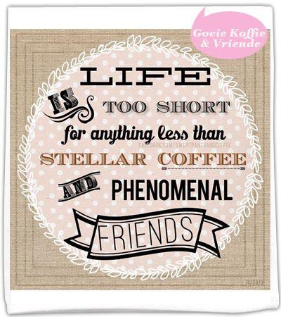 Goeie vriende en lekker koffie laat Christi goed voel