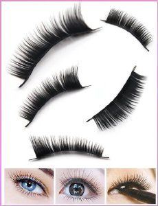 """10 Pair of Reusable Thick Long False Eyelashes by Ebest. $3.59. Can be removed by eye makeup remover. High quality and low price. Simple to use and comfortable to wear. Specialized made by hand entirely. Can be used on a daily basis or professional makeup. Material: Made of High Quality FiberEyelashes Length: About 0.6""""(approx)Color: Black"""