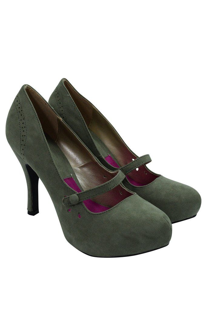 e42e6d769391 60 s Retro Vintage Pinup Mary Jane Olive Vegan Suede Cut Out Pumps  maryjane   militarywife  Olivegreen  vintagepumps