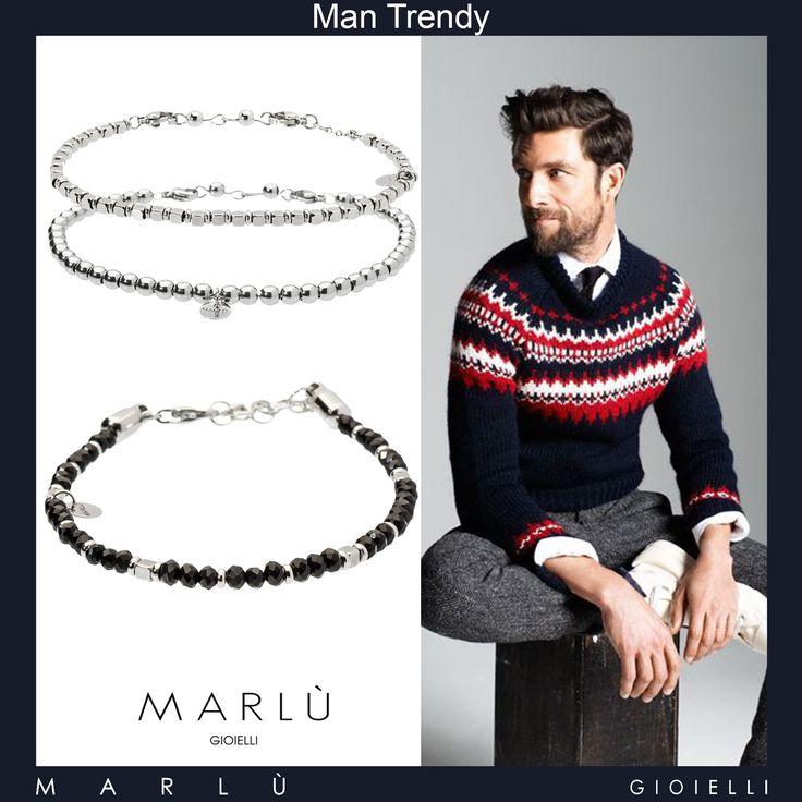 Per un look semplice ma glamour indossa i gioielli della collezione #ManTrendy  For a simple but glamorous look wearing #ManTrendy jewelery collection