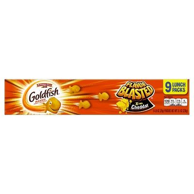 Pepperidge Farm Goldfish Xtra Cheddar Baked Snack Crackers 9 pack