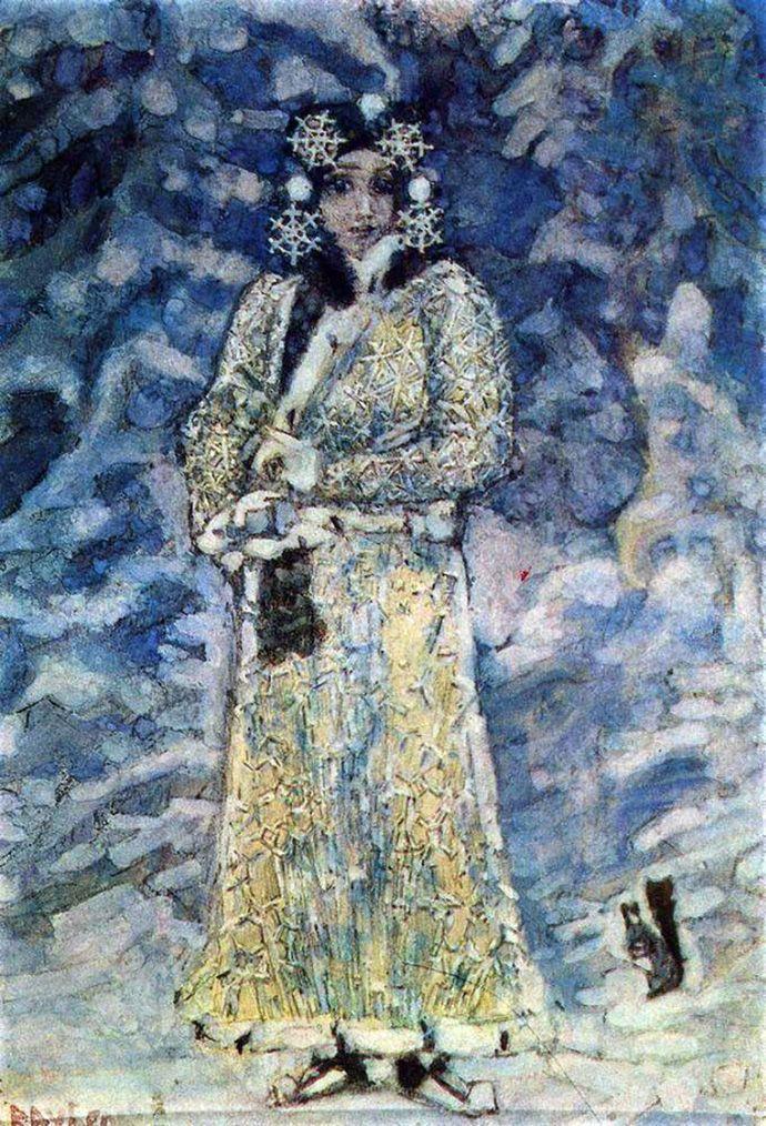 """Михаил Врубель. """"Снегурочка"""", 1890"""