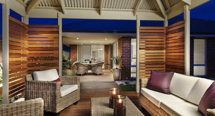Outdoor rooms can be created in a gazebo or re-purposed undercover area.