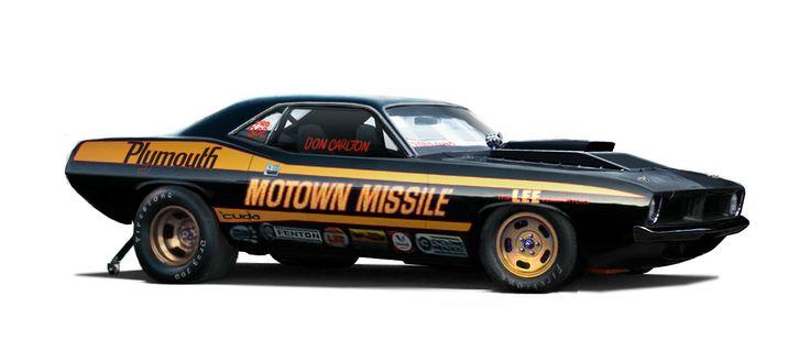 Don Carlton's legendary Motown Missile 'cuda pro stock drag car from 1972