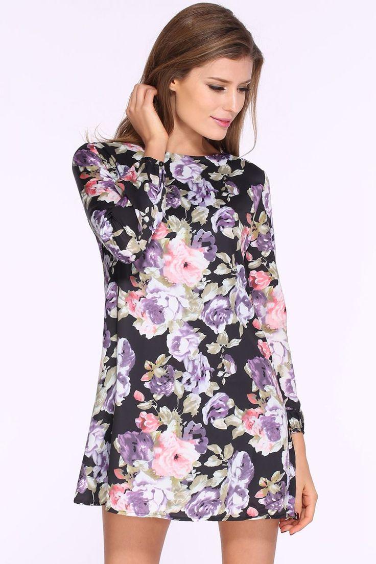 Çiçek Desenli Kısa Elbise Çiçek Desenli Midi Elbise Elbise En Trend Elbiseler 95,00 TL