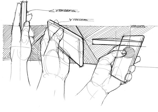 Rough study sketch by Hyosang Pak | Hands are notoriously hard to draw, see in Hyosang's sketches how he builds the hands up from oval volumes, caisdesign.com