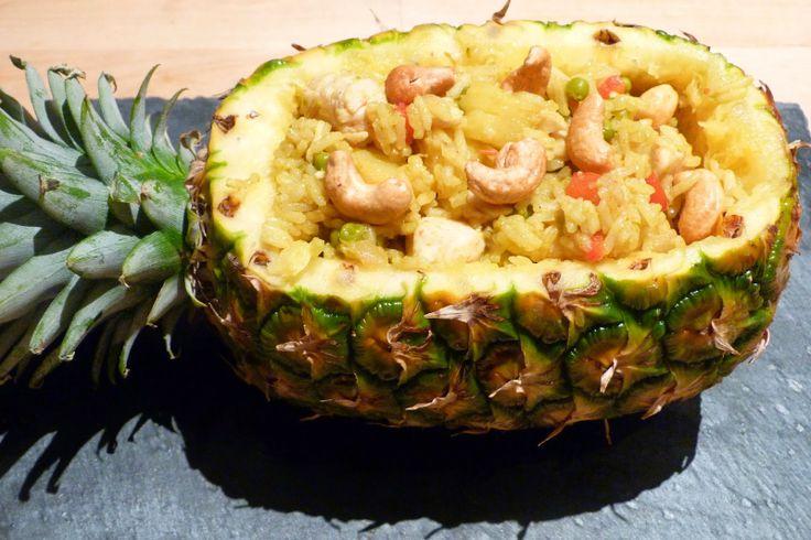 II. Repas Thaïlandais Riz thaï à l'ananas et au poulet