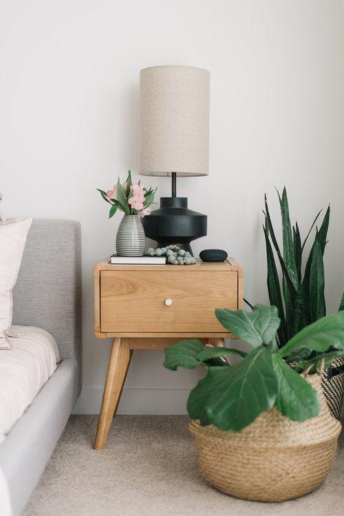 Blush Bedroom Refresh Decor Bedside Table Styling Bedside