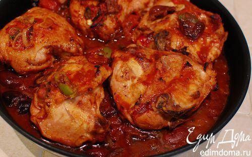 Рецепт – Курица в томатно-оливковом соусе