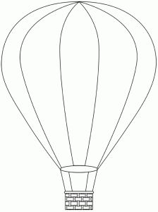 hot air balloon template