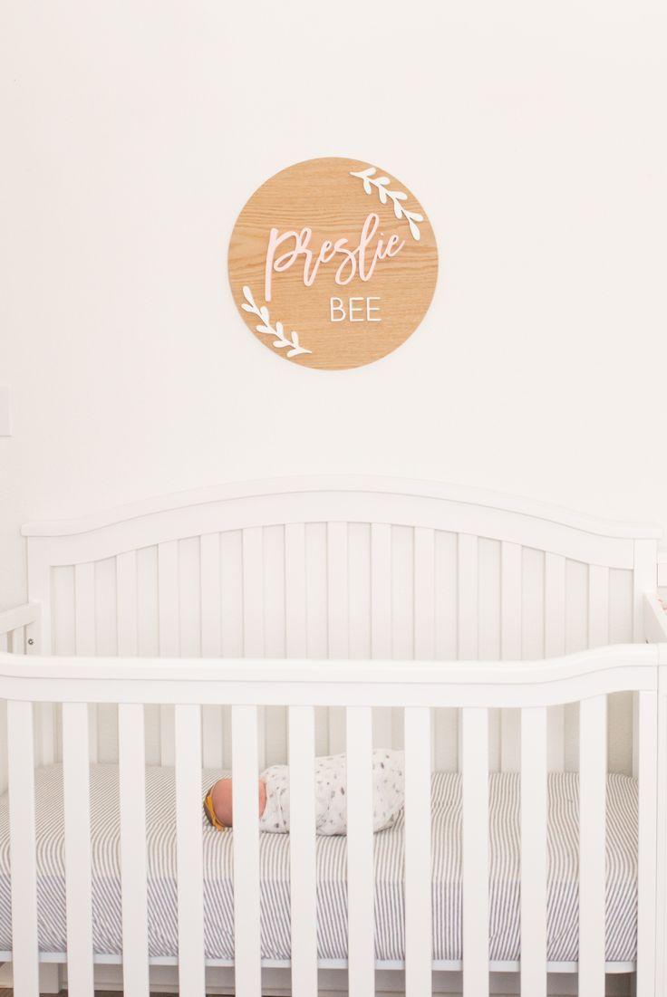 5e5002f4e1e0d Medium Nursery Name Sign with Laurel Design | Future Mini Me ...