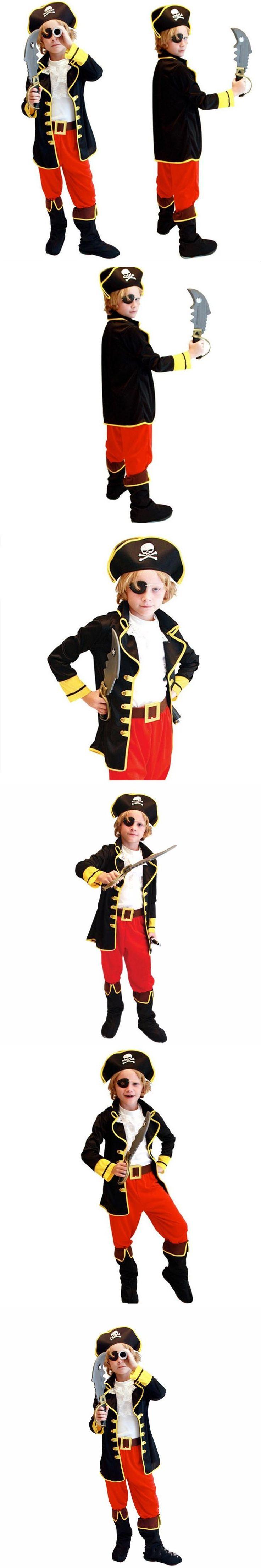 Kids Boys Pirate Costume Cosplay Costumes set for Boys Children Christmas New Year Purim Halloween Costumes For Kids Children