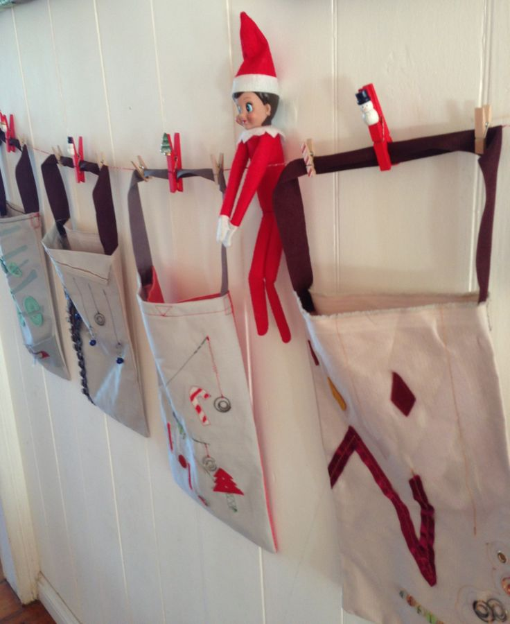 Christmas bags for each of the family + Penny (our Christmas Elf)