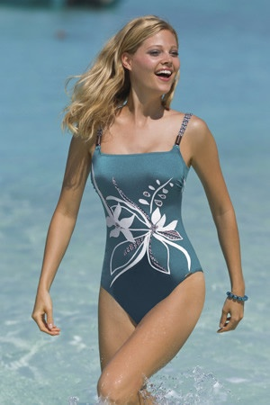 Sunflair, Orchid on the Beach, One-piece, $140. Beachy Keen Swimwear Oakville