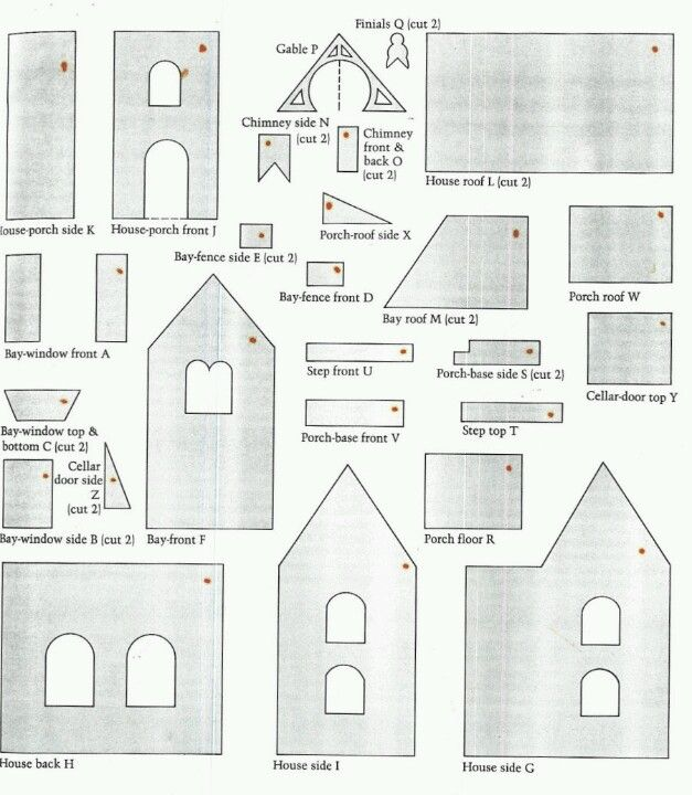 Gingerbread house template                                                                                                                                                                                 More