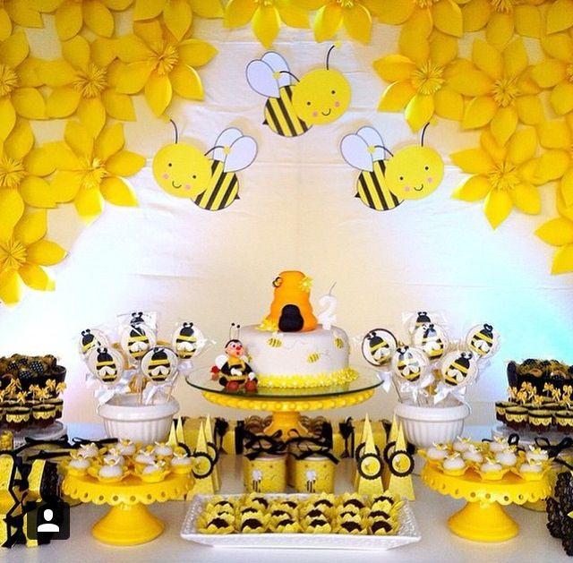 #decoração #festa #infantil #ideias #aniversario #meninos #meninas #abelhas #amarelo