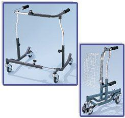 "Bariatric Anterior Safety Roller, Color: Black (500 lb. Weight Capacity) by Drive Medical. $357.50. User is situated in the center of the Safety Roller, providing maximum support and improved posture.. Folds easily and stands on its own in the folded position.. Welded steel frame. Height and Width adjustable in 1"" increments.. Skid resistant, non-marring, easy rolling neoprene wheels. Ideal for indoor and outdoor use.. 500 lb. Weight Capacity.. The Bariatric Anter..."